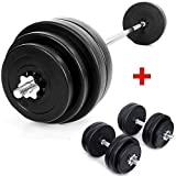TNP Accessories Barbell 60KG + Dumbbell 30KG Weights Set / Weight Sets