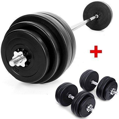 TNP Accessories Pesas 60kg Juego de pesas + Mancuernas 30kg/Peso ...