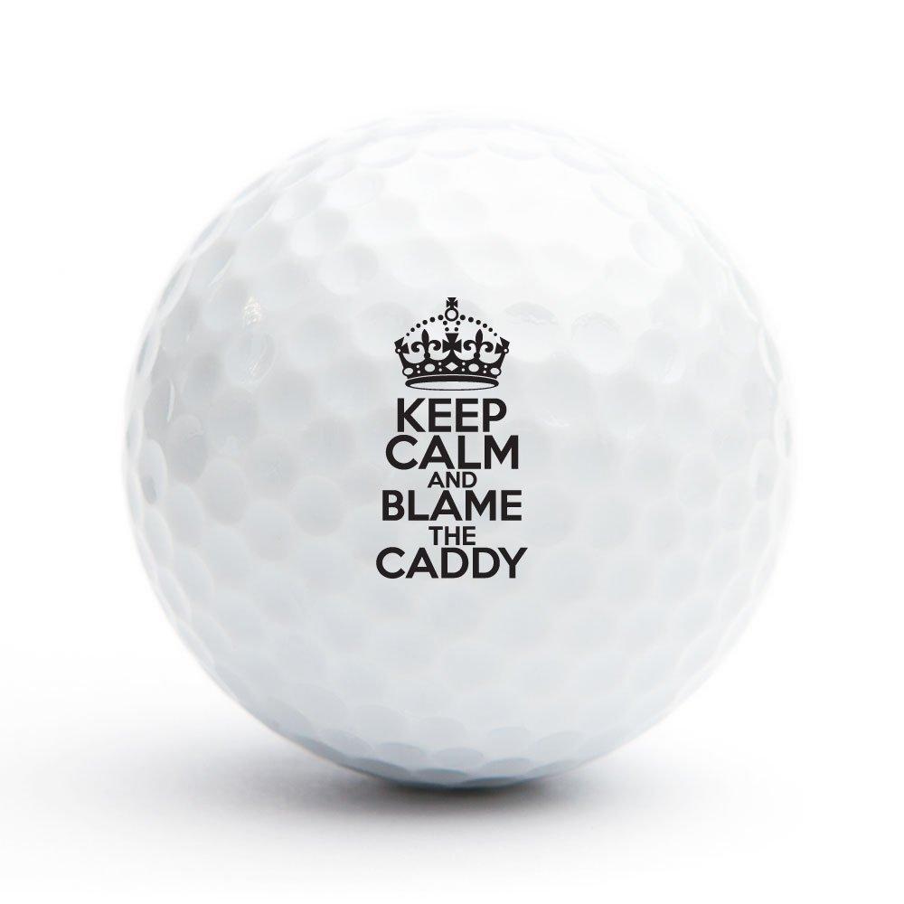 Keep Calm And Blame The Caddy ゴルフボール 18個セット B071VY3JJD