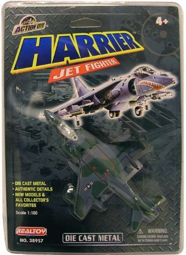 [Real Toys Harrier Jet Fighter Military Airplane Model] (Harrier Toy)