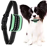 MASBRILL Small Dog Bark Collar, Harmless Stop Barking Device, Control Bark by Beep Sound and Vibration, No Shock. Best Anti-Bark Training Collar. (Green(5-55lbs))