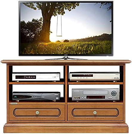 TV de rack con cajones, muebles de TV Compartimiento de alta fidelidad para dispositivos, Rack TV