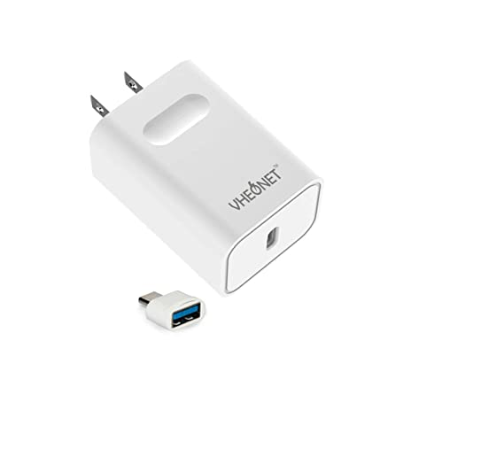 promo code 10f7d 479f3 USB Type C Wall Charger, 18W USB-C Power Adapter PD Charger Fast Charging  for iPhone X/ 8/8 Plus, Google Pixel/Pixel C (USB Adapter Included)