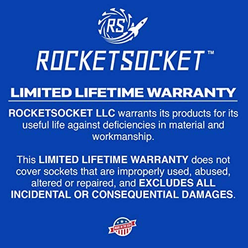 "ROCKETSOCKET | Made in USA | 1/4"" Extraction Socket Set 