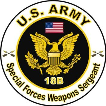 18b 5 Tool - United States Army MOS 18B Special Forces Weapons Sergeant Decal Sticker 5.5