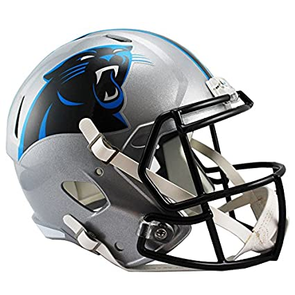 bb78bea2abc86 Amazon.com   Riddell Carolina Panthers Officially Licensed Speed Full Size  Replica Football Helmet   Sports   Outdoors