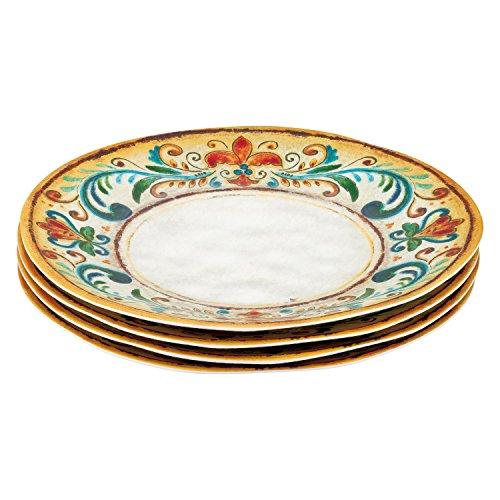 Art Dinner - Gourmet Art 4-Piece Tuscany Melamine 11-inch Dinner Plate