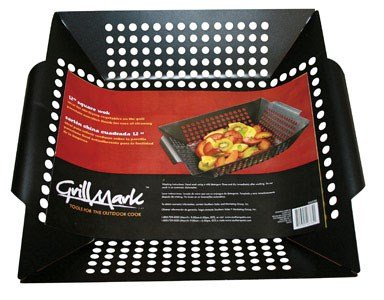 Grillmark Square Grill Topper Wok Carbon Steel 12'' X 12'' by Ace Trading-Grill Acc 3