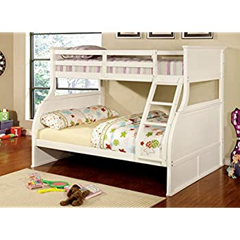 furniture of america brenna twinfull bunk bed white
