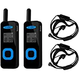 YICHI YC-01D Mini Walkie Talkies Two-Way Radio Long Range 400-480 MHz 22 Channel (Pair)( Black)