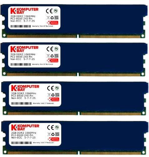 Triple Channel 8500 - Komputerbay 8GB ( 4 X 2GB ) DDR2 DIMM (240 PIN) AM2 1066Mhz PC2 8500 FOR MSI K9N2 SLI Platinum 8 GB