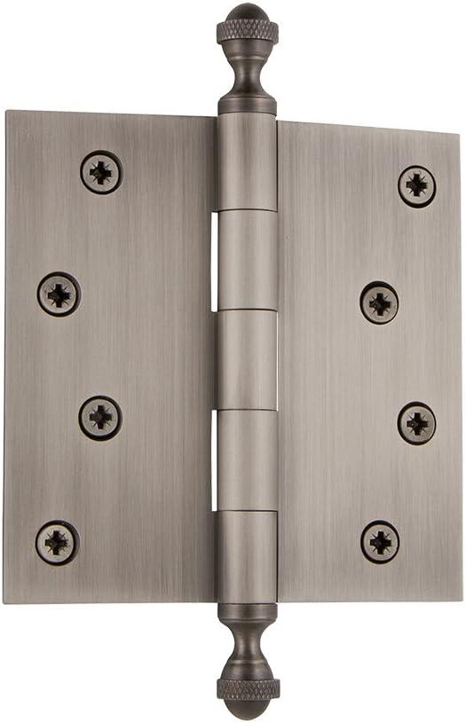 Grandeur Hardware 833724 3.5 Acorn Tip Residential Hinge with Square Corners in Timeless Bronze 3.5 x 3.5