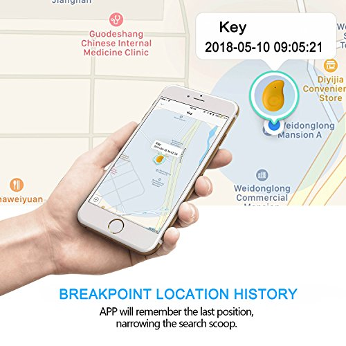 Ereon Smart Bluetooth GPS Tracker - 4 Pack Key Finder Locator Alarm Sensor GPS Tracker Wallet Bag Phone Pet Dog Cat Child Wireless Anti-Lost Finder Tracker IOS Android App for Old Man Kids Gift by Ereon (Image #3)