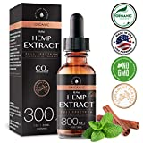 Organic Hemp Oil Extract for Pain & Stress Relief (300MG), Cinnamint Flavor, Full Spectrum, Blended with Organic Hemp Seed Oil for Optimal Absorption, CO2 Cold Extracted, Kosher, Non-GMO, 1oz For Sale
