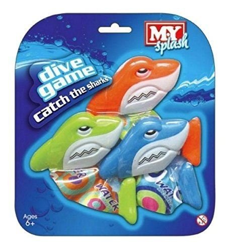 My Splash M.Y Underwater Catch The Sharks Swimming Diving Sinking Pool Toys