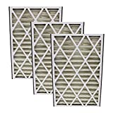 3 Replacements for Trion Air Bear 16x25x3 Pleated Furnace Air Filter Fits 255649-101 Pleated Furnace Air Filter, Merv 8, by Think Crucial