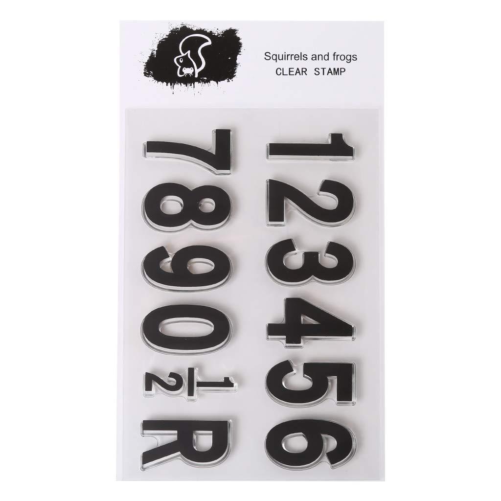 Label Alfabeto Letras silicona transparente sello hojas sellos de silicona Clear Stamps DIY Artesan/ía Scrapbooking Decorar /álbum scrapbooking