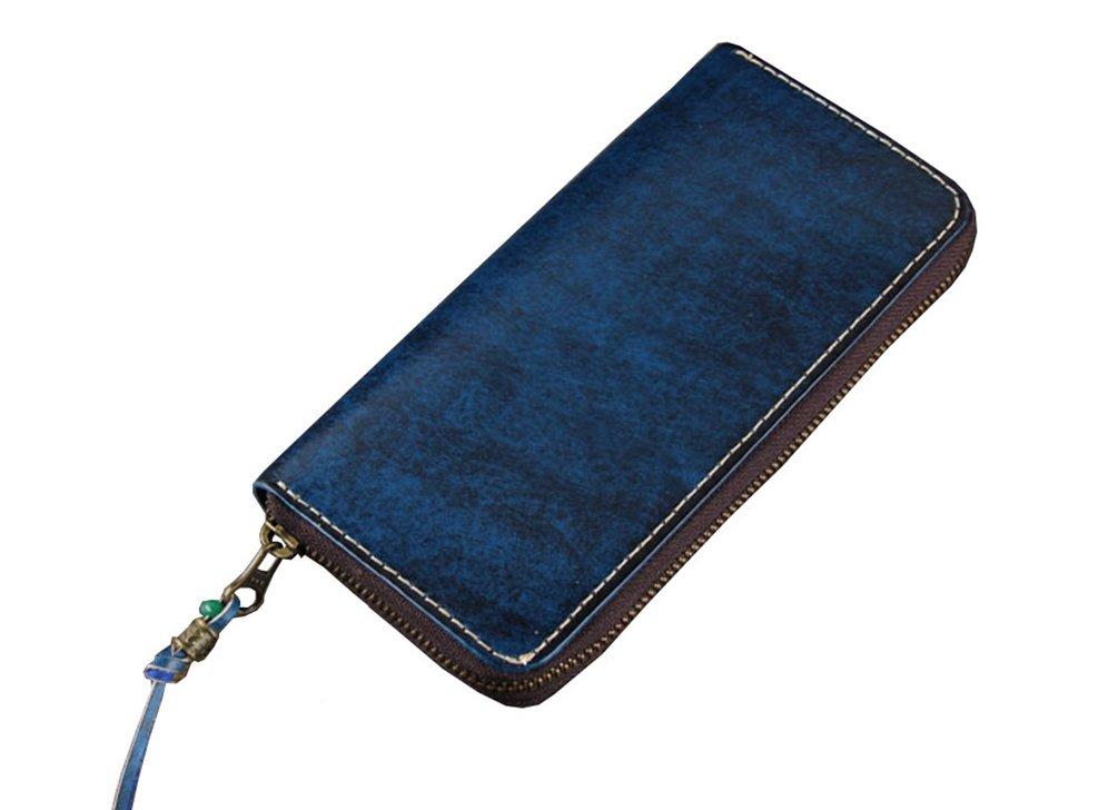 Menschwear Mens Genuine Leather Designer Wallet Credit Card Holder Purse Blue by Menschwear (Image #1)