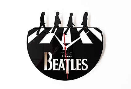 ZJWZ Mi Música Regalo Reloj De Pared Vintage CD Vinilo Disco Beatles Abby Road Reloj De