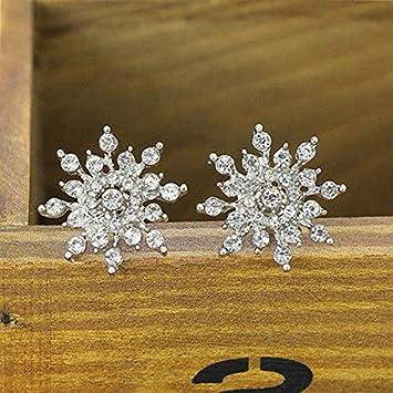 Jewelry Heart Star Earrings Sets Star Feather Skull  Crystal Flower Ear Studs