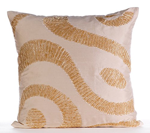 "Luxury Off White Euro Sham, 26""x26"" Euro Pillow Cases, Sequi"