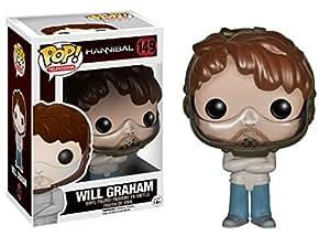 Pop! Funko Hannibal 10 Cm Will Graham camisa de fuerza con máscara y Camisa de fuerza