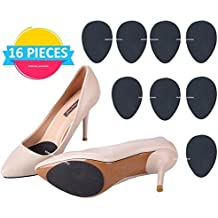 Anti-Slip Stick on Shoe Grip (16 pcs) Pads Non-Slip Rubber Adhesive Sole Protector No Slip Cushion Heel Replacement Pad Prevention