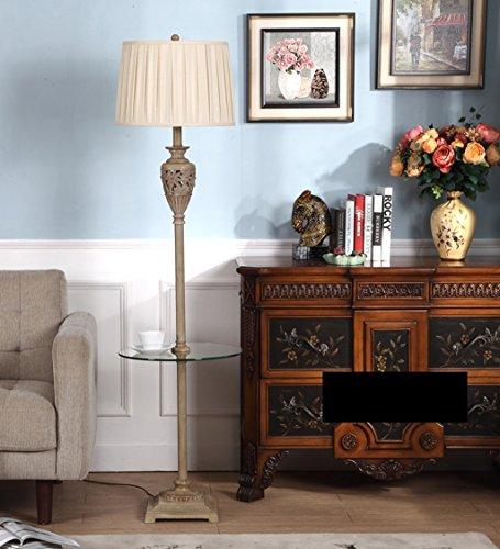 Europäische Stehlampe mit Kaffeetisch Schlafzimmer Wohnzimmer Luxus American Retro Vertikal Scandinavian kreative Objekte (Energieeffizienzklasse A +)
