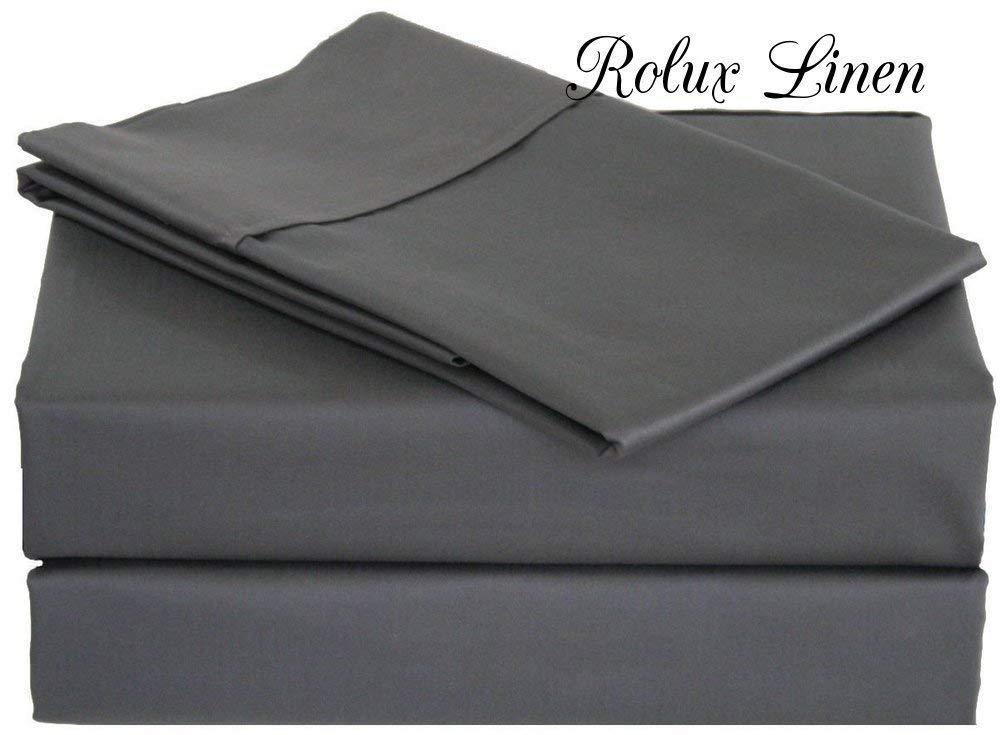 Rolux リネンクイーンスリーパーソファベッドシートセット – ソリッドコットン100% 800スレッドカウント フィットディープ Queen Sofa 60