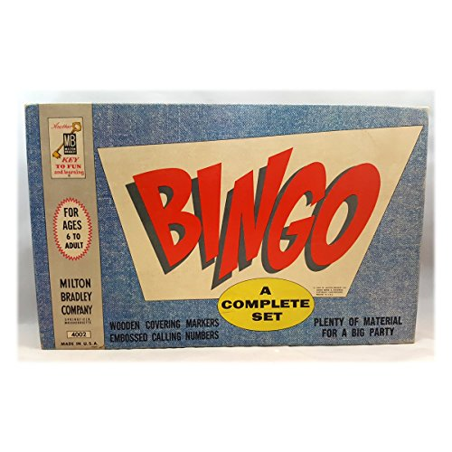 Vintage 1960 Bingo Game by Milton Bradley Company No. 4002