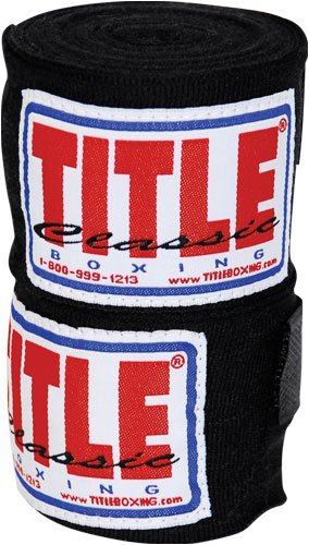 TITLE Classic Mexican Style Hand Wraps (Single Pair), Black