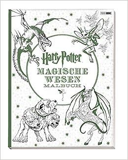 Harry Potter Magische Wesen Malbuch Amazonde Bã¼cher
