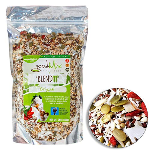 Blend 11 - Low FODMAP Certified / IBS Relief Organic High Fiber Cereal - goodMix Superfoods - 25 oz resealable -