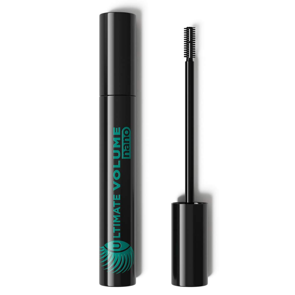 Marcelle Ultimate Volume Nano Mascara, Blackest Black, Hypoallergenic and Fragrance-Free, 0.25