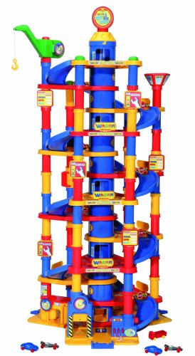 Wader Park Tower Playset With Cars - 13 Floors