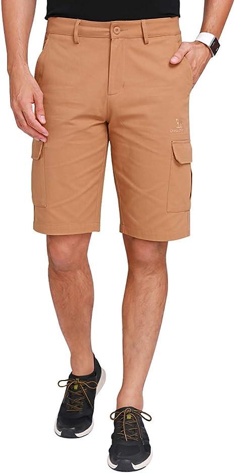 CAMEL CROWN Pantalones Cortos para Hombre Cargo Shorts ...