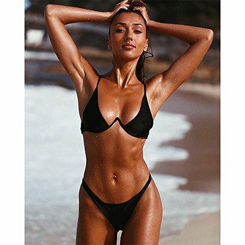 push brasiliano Costumi Donne Nero Rehao Costume Bikini Pezzi Da Alta Bagno set Sexy Due Da bikini Vita Donna up Bagno Beachwear PxqqFIrwY