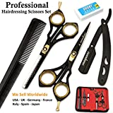 Saaqaans SQKIT Professional Hairdressing Scissors Set - Barber Thinning & Quality Haircut Hairdresser