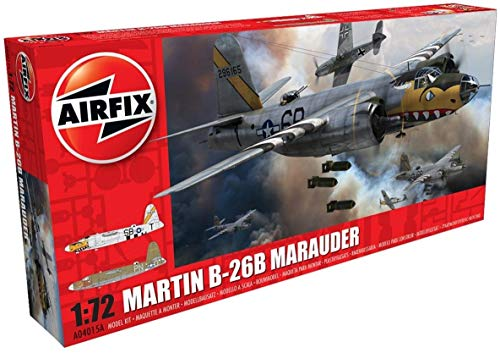 Airfix A04015A Martin B26 B/C Marauder 1/72 Model Kit, Multicolor (Pack of 12)