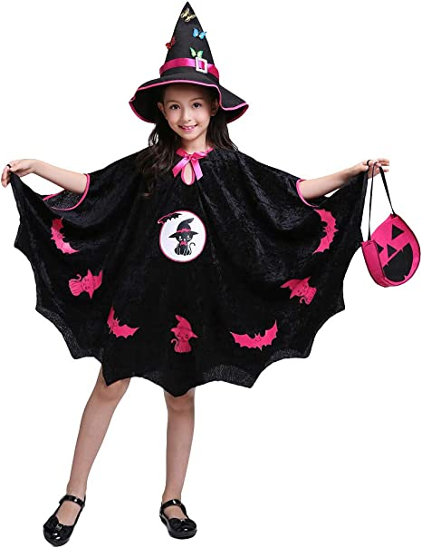 LOLANTA Disfraz de Bruja Malvada para niña Traje de Bruja de Bruja ...