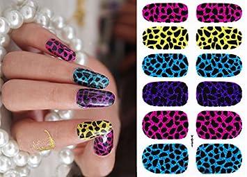 Amazon Nail Art Stickers Full Wrap Animal Print Leopard Nail