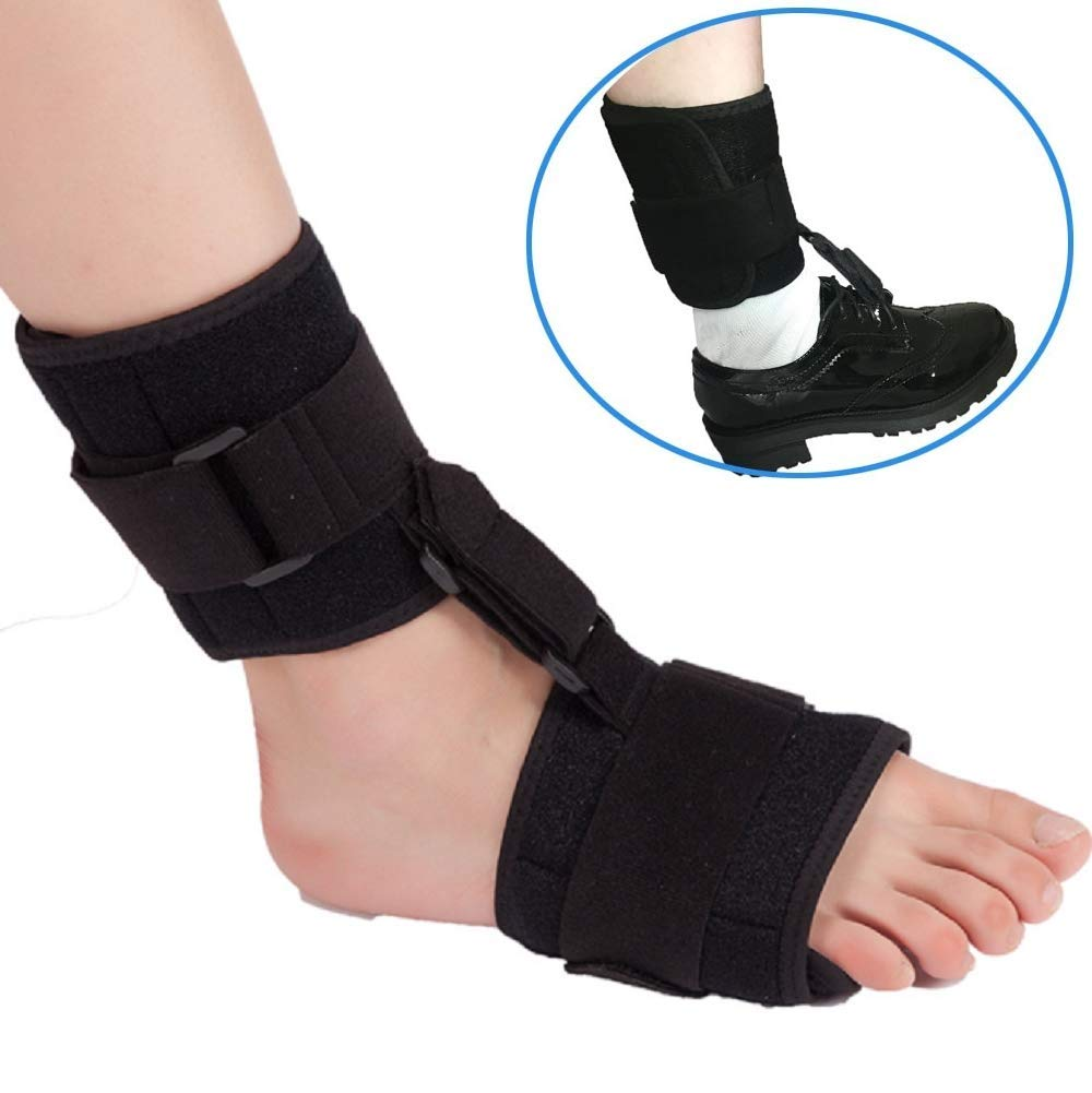 ankt777 Soft AFO Foot-up - Drop Foot Brace- Foot Drop Orthotic Brace- Comfort Cushioned Compression for Improved Walking Gait, Prevents Cramps Ankle Sprains by ankt777