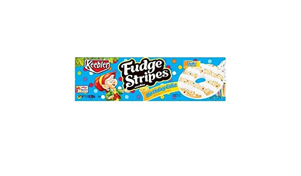 Amazon Keebler Fudge Stripes Birthday Cake Cookies 115oz