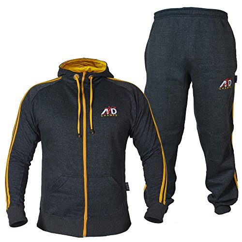 ARD CHAMPS Fleece Tracksuit Hoodie Trouser MMA Gym Boxing...