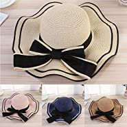 Respctful ? Beach Sun Straw Hat Wide Brim Fedora Straw Beach Hat Braided Beach Hat