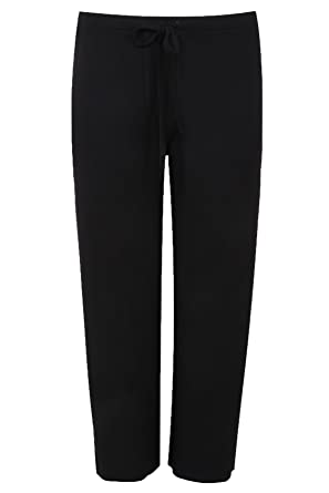 Yours Clothing Women s Plus Size Wide Leg Pull On Stretch Jersey Yoga  Trousers  Amazon.co.uk  Clothing e2bf90c8e8