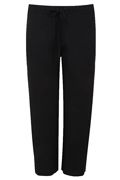 bb6c33f8edbf Yours Clothing Women's Plus Size Wide Leg Pull On Stretch Jersey Yoga  Trousers Size 16 Black
