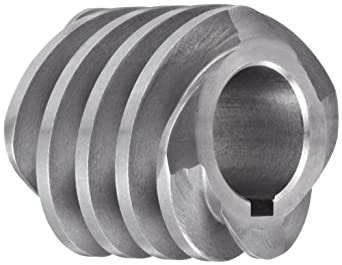 """Boston Gear D1607KLH Worm Gear, 14.5 Degree Pressure Angle, 0.625"""" Bore, 12 Pitch, 1. PD, LH"""