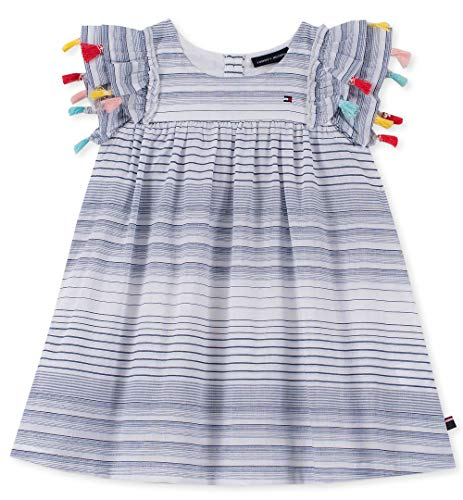 Tommy Hilfiger Baby Girls Dress, Rose Plaid 24M (Tartan Rose)