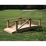 Creekvine Designs Pearl River 6-ft. Cedar Garden Bridge